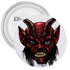 Krampus Devil Face 3  Buttons