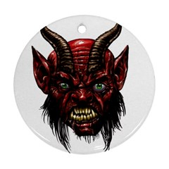 Krampus Devil Face Ornament (round)