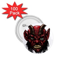 Krampus Devil Face 1 75  Buttons (100 Pack)