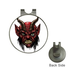 Krampus Devil Face Hat Clips With Golf Markers