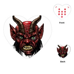 Krampus Devil Face Playing Cards (heart)