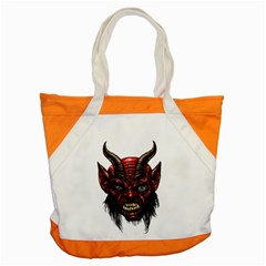 Krampus Devil Face Accent Tote Bag