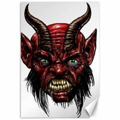 Krampus Devil Face Canvas 12  X 18