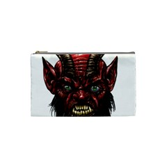 Krampus Devil Face Cosmetic Bag (small)