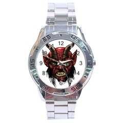 Krampus Devil Face Stainless Steel Analogue Watch