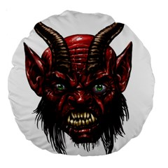Krampus Devil Face Large 18  Premium Round Cushions