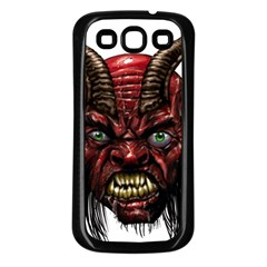 Krampus Devil Face Samsung Galaxy S3 Back Case (black)