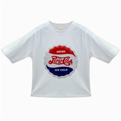 Pepsi Cola Bottle Cap Style Metal Infant/toddler T Shirts