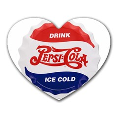 Pepsi Cola Bottle Cap Style Metal Heart Mousepads