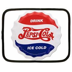 Pepsi Cola Bottle Cap Style Metal Netbook Case (large)
