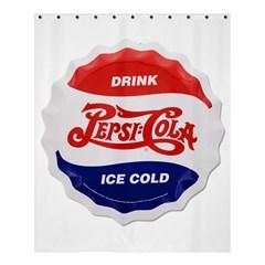 Pepsi Cola Bottle Cap Style Metal Shower Curtain 60  X 72  (medium)