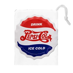 Pepsi Cola Bottle Cap Style Metal Drawstring Pouches (extra Large)