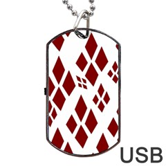 Harley Quinn Dog Tag Usb Flash (two Sides)
