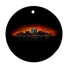 World Of Tanks Round Ornament (two Sides)