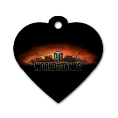 World Of Tanks Dog Tag Heart (two Sides)