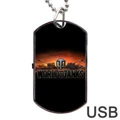World Of Tanks Dog Tag Usb Flash (two Sides)