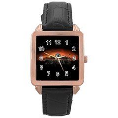 World Of Tanks Rose Gold Leather Watch