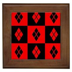 Harley Quinn Logo Pattern Framed Tiles