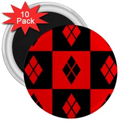Harley Quinn Logo Pattern 3  Magnets (10 Pack)
