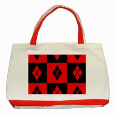 Harley Quinn Logo Pattern Classic Tote Bag (red)