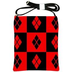 Harley Quinn Logo Pattern Shoulder Sling Bags