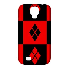 Harley Quinn Logo Pattern Samsung Galaxy S4 Classic Hardshell Case (pc+silicone)