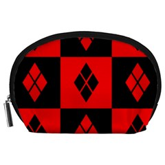 Harley Quinn Logo Pattern Accessory Pouches (large)