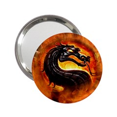 Dragon And Fire 2 25  Handbag Mirrors