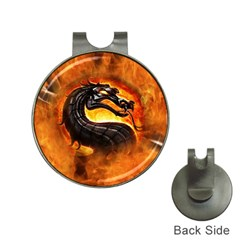 Dragon And Fire Hat Clips With Golf Markers