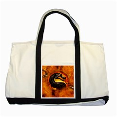 Dragon And Fire Two Tone Tote Bag