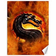 Dragon And Fire Canvas 18  X 24