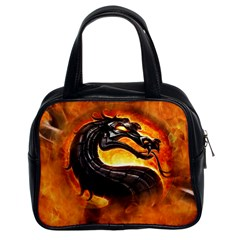 Dragon And Fire Classic Handbags (2 Sides)