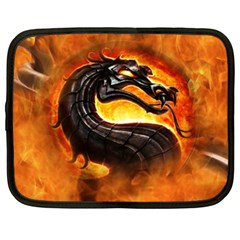 Dragon And Fire Netbook Case (xxl)