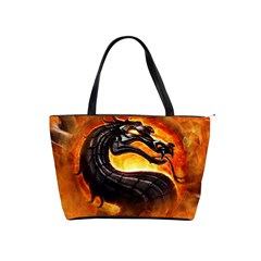 Dragon And Fire Shoulder Handbags