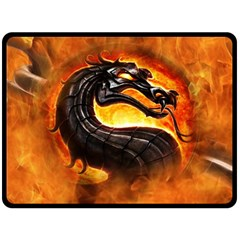 Dragon And Fire Fleece Blanket (large)