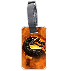 Dragon And Fire Luggage Tags (two Sides)