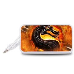 Dragon And Fire Portable Speaker (white)