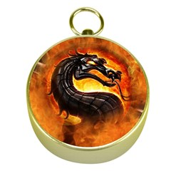 Dragon And Fire Gold Compasses