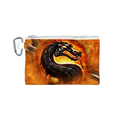 Dragon And Fire Canvas Cosmetic Bag (s)