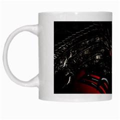 Black Dragon Grunge White Mugs