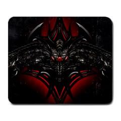 Black Dragon Grunge Large Mousepads