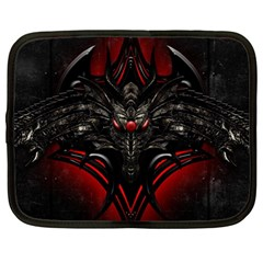 Black Dragon Grunge Netbook Case (large)