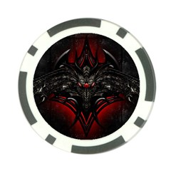 Black Dragon Grunge Poker Chip Card Guard (10 Pack)