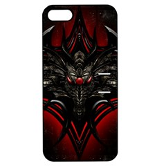 Black Dragon Grunge Apple Iphone 5 Hardshell Case With Stand
