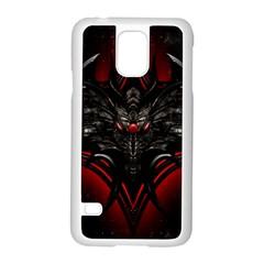 Black Dragon Grunge Samsung Galaxy S5 Case (white)