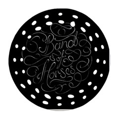 Band Of Horses Round Filigree Ornament (two Sides)
