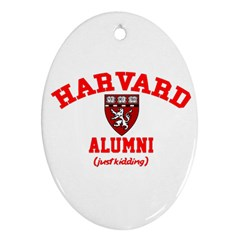Harvard Alumni Just Kidding Ornament (oval)