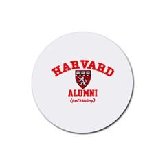 Harvard Alumni Just Kidding Rubber Coaster (round)