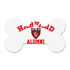 Harvard Alumni Just Kidding Dog Tag Bone (one Side)