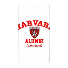 Harvard Alumni Just Kidding Samsung Galaxy Note 3 N9005 Hardshell Back Case